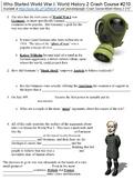 Crash Course World History 2 #210 (Who Started World War I) worksheet