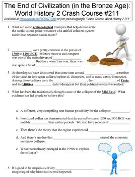 Crash Course World History 2 #211 (End of Civilization in Bronze Age) worksheet