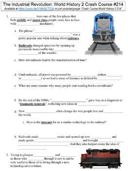 Crash Course World History 2 #214 (The Industrial Revolution) worksheet