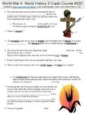 Crash Course World History 2 #220 (World War II) worksheet
