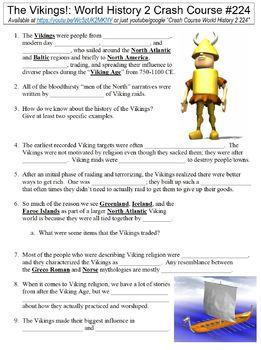 Crash Course World History 2 #224 (The Vikings!) worksheet