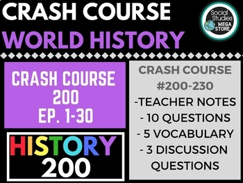 Crash Course World History 2 #200-230