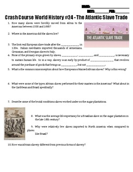 Crash Course World History #24 - The Atlantic Slave Trade