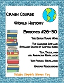 Crash Course World History #26-30 (Seven Years War, Revolutions, Captain Cook)