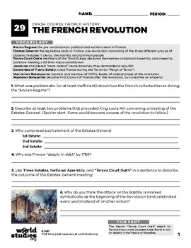 Crash Course World History 29: French Revolution