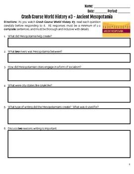 Crash Course World History #3 - Mesopotamia