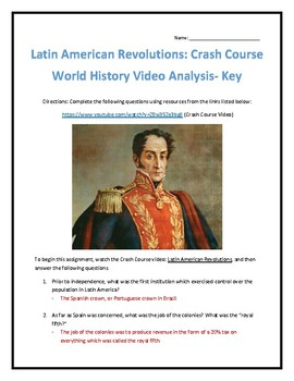 Crash Course World History #31- Latin American Revolutions Video Analysis
