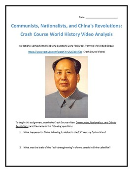 Crash Course World History #37- China's Revolutions Video Analysis