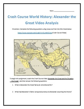 Crash Course World History #8- Alexander the Great Video Analysis