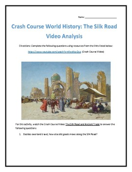 Crash Course World History #9- The Silk Road Video Analysis