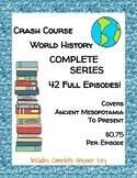 Crash Course World History COMPLETE SERIES BUNDLE ~ 42 Episodes!