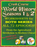 Crash Course World History ENTIRE SEASONS 1 & 2 BUNDLE: ALL 72 Episodes