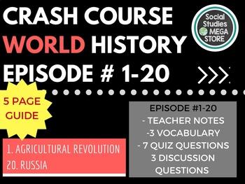 Crash Course World History Ep. 1-20