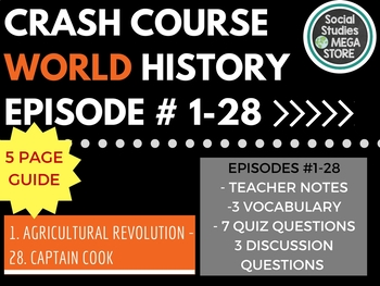 Crash Course World History Ep. 1-28 Bundle