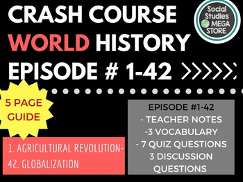 Crash Course World History Ep. 1-42 Bundle