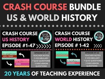 Crash Course World History Ep.# 1-42 & US History Ep. # 1-47