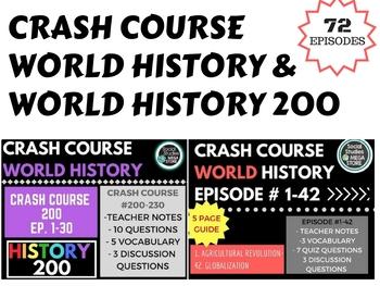 Crash Course World History Ep. 1-42 and World History 2 #200-230