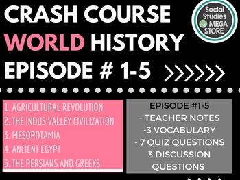 Crash Course World History Ep. 1-5