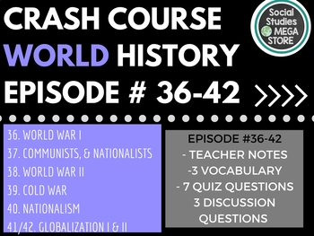 Crash Course World History Ep. 36-42