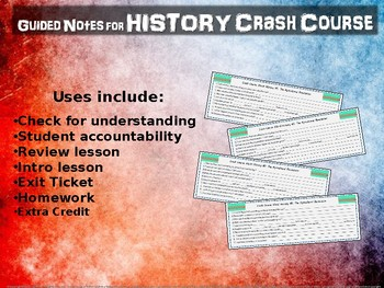 Crash Course World History GUIDED NOTES #28 TEA, TAXES & THE AMERICAN REVOLUTION