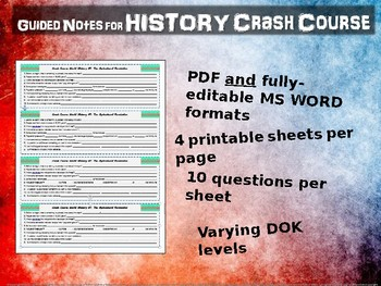 Crash Course World History GUIDED NOTES #32- COAL, STEAM & INDUSTRIAL REVOLUTION