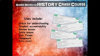 "Crash Course World History GUIDED NOTES ""MEDIEVAL/MODERN"" BUNDLE (12 through 28)"