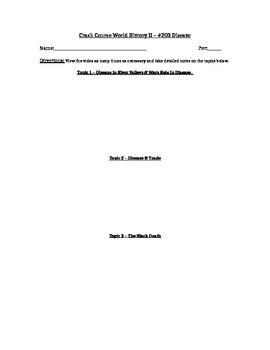 Crash Course World History II Video Worksheet - #203 Disease