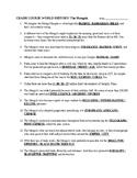 Crash Course World History MONGOLS Video Guide