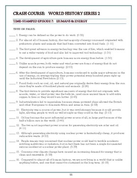 Crash Course World History SEASON 2 Worksheets Episodes 6-10