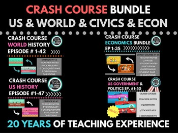 Crash Course World History, US History, Government & Polit