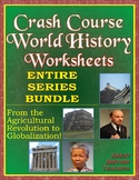 Crash Course World History Worksheets ENTIRE SERIES BUNDLE -- Episodes 1-42