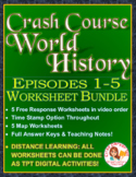 Crash Course World History Worksheets Episodes 1-5