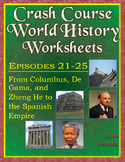 Crash Course World History Worksheets Episodes 21-25