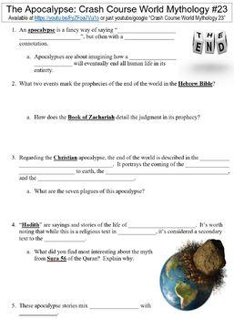 Crash Course World Mythology #23 (The Apocalypse) worksheet