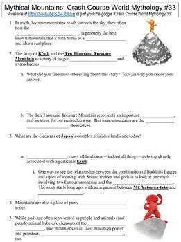 Crash Course World Mythology #33 (Mythical Mountains) worksheet