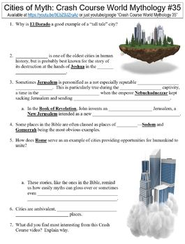 Crash Course World Mythology #35 (Cities of Myth) worksheet