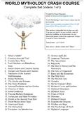 Crash Course World Mythology Worksheets Complete Series Se