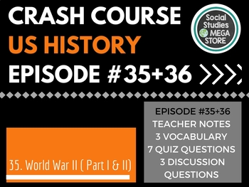 Crash Course World War II Part I / II Ep. 35 + 36