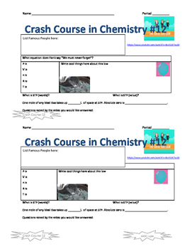 Crash Course in Chemistry 12 Ideal Gas Law