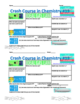 Crash Course in Chemistry 13 Ideal Gas Law Problems