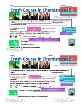 Crash Course in Chemistry 15 Partial Pressures and Vapor Pressure