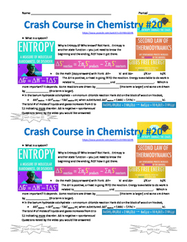 Crash Course in Chemistry 20 Entropy, embrace the chaos