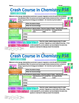 Crash Course in Chemistry 38 Nuclear Chemistry
