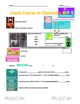 Crash Course in Chemistry 9 Precipitation Reactions