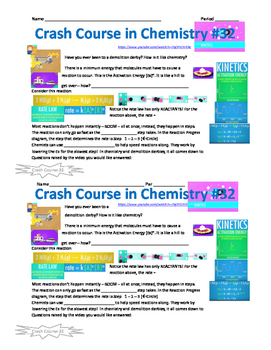 Crash Course in Chemistry Video Guide Pack 7 Episodes 31-35
