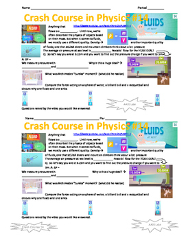 Crash Course in Physics 14 Fluids at Rest