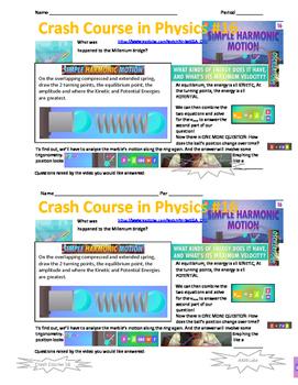 Crash Course in Physics 16 Simple Harmonic Motion