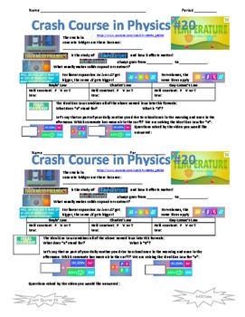 Crash Course in Physics 20 Temperature