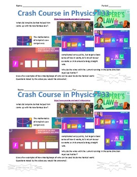 Crash Course in Physics 33 Ampere's Law