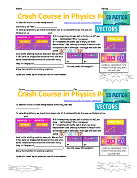 Crash Course in Physics 4 - Vectors and 2D Motion